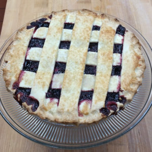 wheat free marionberry pie